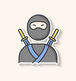 ninja patch traditional japanese fighter vector image