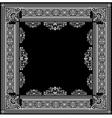 ornate title frame vector image vector image