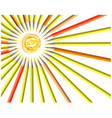 painted sun smile vector image vector image
