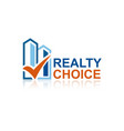realty choice logo vector image