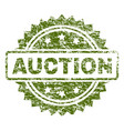 scratched textured auction stamp seal vector image vector image