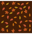seamless pattern with autumn leaves different vector image vector image