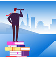 self education open new horizons vector image vector image