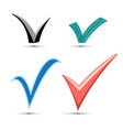 set different signs vector image
