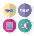 set icons of cinema icon vector image