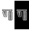set line car gas and brake pedals icon isolated vector image vector image
