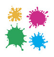 Set multicolored blots