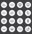 set of 16 editable zoo outline icons includes vector image vector image