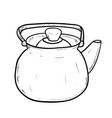 sketch of doodle kettle vector image vector image