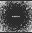 snow 3d frost effect vector image vector image