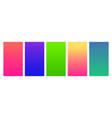 social media duotone gradient background set vector image