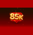 thank you followers peoples 85k online social vector image