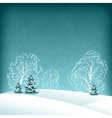 winter landscape with fir trees vector image vector image