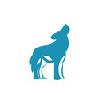 wolf logo icon design vector image