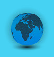 world map in globe shape earth vector image vector image