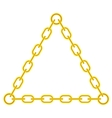yellow chain triangle frame vector image vector image