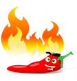 cartoon red hot chili pepper vector image