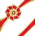 Christmas box gift ribbon vector image