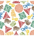 Seamless pattern of mayan and aztec ornament vector image