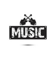 music square frame guitar rock background i vector image