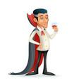 3d vampire gentleman costume halloween party savor vector image vector image