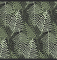 abstract green tropical leaves pattern vector image