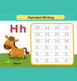 alphabet letter h-horse exercise with cartoon