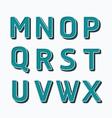 Alphabet set type fonts set dot colour style vector image vector image