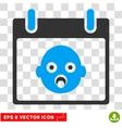 Baby Head Calendar Day Eps Icon vector image vector image
