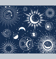 background astrological pattern moon phases vector image