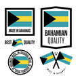 bagamas quality label set for goods vector image vector image