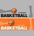 basketball flyer or web banner design with ball vector image
