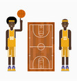 basketball player team character vector image vector image
