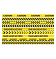 black and yellow stripes police tape set vector image vector image