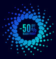 black friday sale halftone dots vector image
