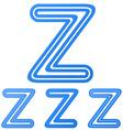 Blue z letter logo design set vector image vector image