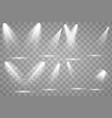 bright lighting with spotlights vector image