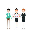 business people and stock market arrow vector image