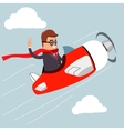 Businessman on airplane vector image