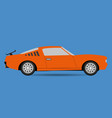 car flat style on blue background vector image vector image