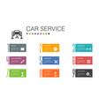 car service infographic 10 option line concept vector image