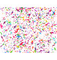carnaval or festival confetti colorful pieces vector image vector image