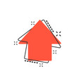 cartoon arrow up icon in comic style forward vector image