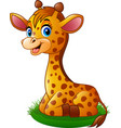 cartoon baby giraffe vector image vector image