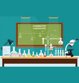 chemical laboratory science lesson vector image vector image