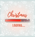 christmas loading abstract red design vector image vector image
