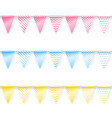 colored garlands vector image vector image