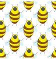 cute cartoon seamless pattern with funny yellow vector image vector image