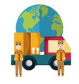 delivery mens cartoons vector image