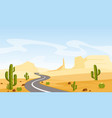 desert landscape with vector image